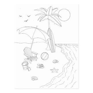 Carte postale adulte de coloration de scène de
