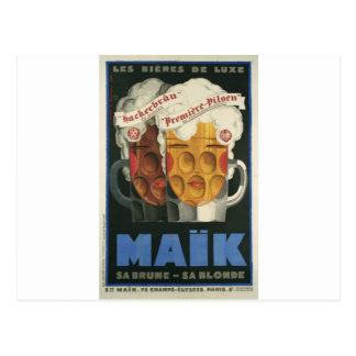 Carte Postale affiche française originale 1929 d'art déco de