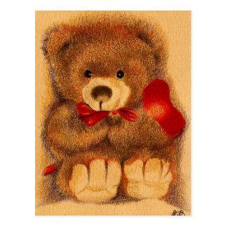 Carte postale aimée d'ours de nounours