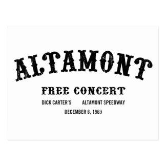 Carte Postale Altamont libèrent le concert