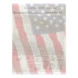 Carte postale américaine de patriotes