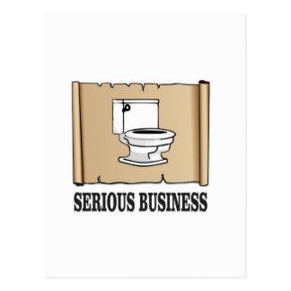 Carte Postale amusement sérieux d'affaires