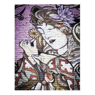 Carte Postale Art/graffiti de rue du marché de Kensington