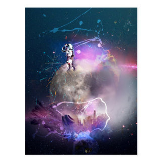 Carte Postale Astronaute montant le nova superbe