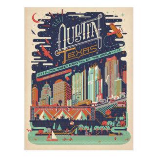 Carte Postale Austin, le Texas - AKA : Ville de batte