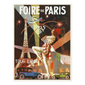 Carte postale avec la copie d'art déco de Paris de