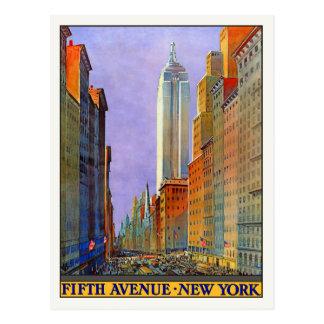 Carte postale avec la copie vintage d'affiche de N