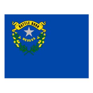 Carte postale avec le drapeau de l'état du Nevada