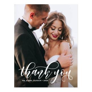 Carte Postale Beau Merci moderne de photo de mariage de