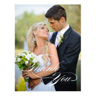 CARTE POSTALE BLANCHE DE PHOTO DE MERCI DE MARIAGE