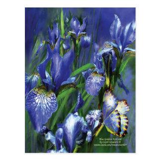 Carte postale bleue d'art de déesse