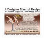 """Carte postale blonde de recette de Martini de """"bro"""