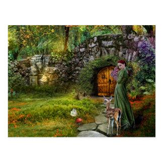 Carte postale cachée de jardin