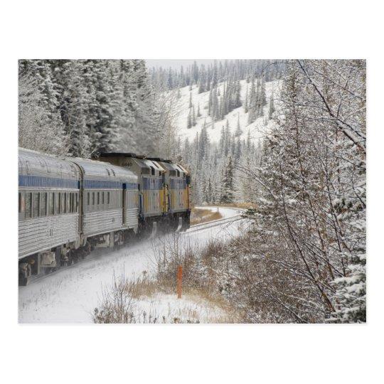 Carte Postale Canada, Alberta. Train de neige VIA Rail entre | Zazzle.ca