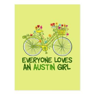 Carte Postale Chacun aime une fille d'Austin