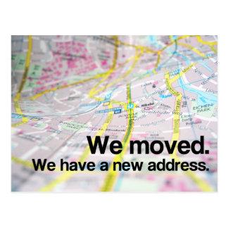 Carte Postale Changement d'adresse (carte contemporaine)