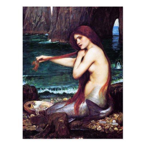 Carte postale : Château d'eau de John - une sirène