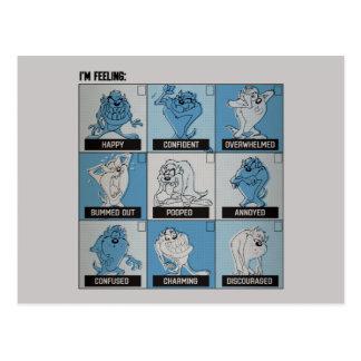 Carte Postale Checkbox d'émotion de TAZ™