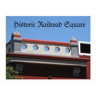 Carte Postale Chemin de fer historique carré
