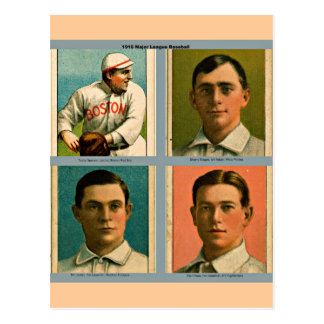 Carte Postale Collage 1910 de Ligue Majeure de Baseball de cru