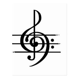 Carte Postale Conception de note musicale