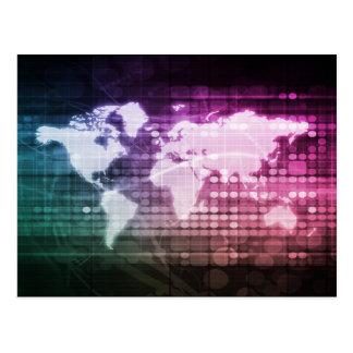 Carte Postale Connexion réseau et système intégré globale