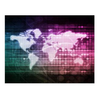 Carte Postale Connexion réseau globale et intégré
