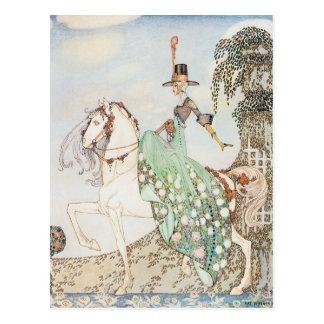 Carte Postale Conte de fées vintage, princesse Minette, Kay