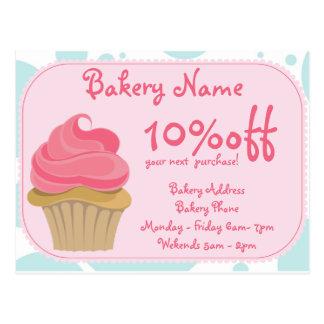 Carte postale d'affaires de boulangerie