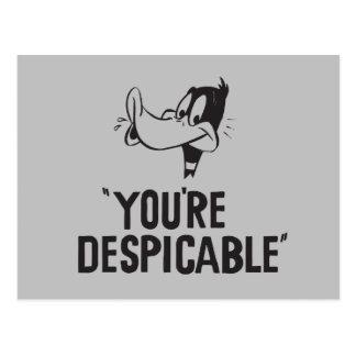 """Carte Postale DAFFY classique DUCK™ """"vous êtes ignobles """""""