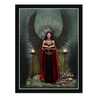 Carte postale d'ange - protecteur foncé d'ange