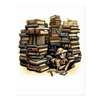 Carte postale d'archéologue de livre