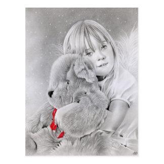 Carte postale de cadeau d'ours de nounours de Noël