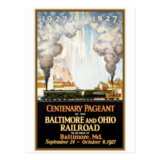 "Carte postale ""de centenaire de chemin de fer de B"