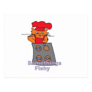 carte postale de chat de boulanger