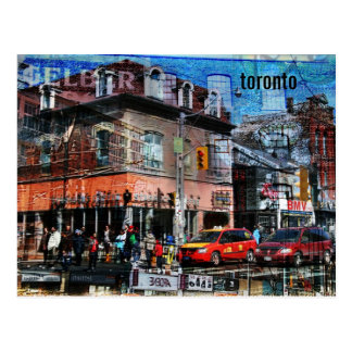 Carte postale de collage de rue de reine de Toront
