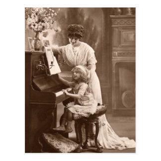 Carte postale de enseignement vintage de musique
