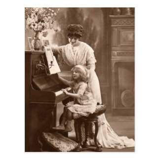Carte postale de enseignement vintage de musique d