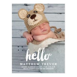 Carte postale   de faire-part de naissance de bébé