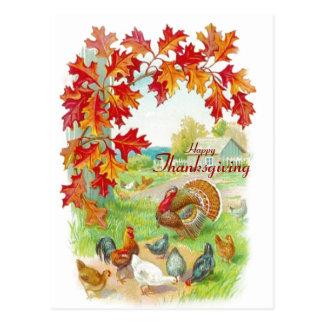 Carte postale de jour de thanksgiving