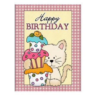 Carte postale de Kitty d'anniversaire