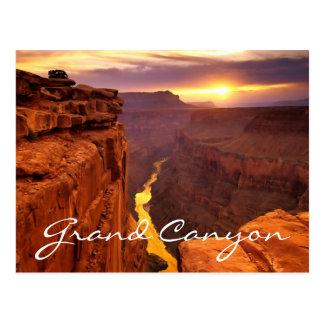Carte postale de l Arizona de coucher du soleil de