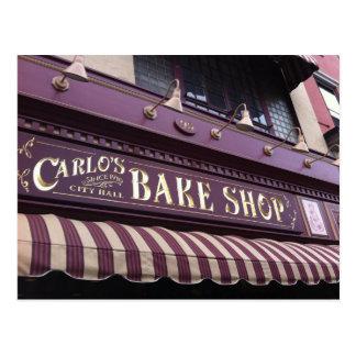 Carte postale de la boulangerie de Carlo