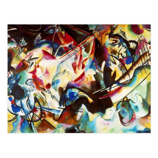 Carte postale de la composition VI en Kandinsky