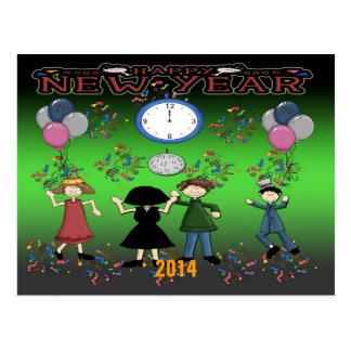 Carte postale de la partie de nouvelle année