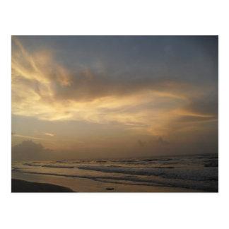 Carte postale de lever de soleil de beau