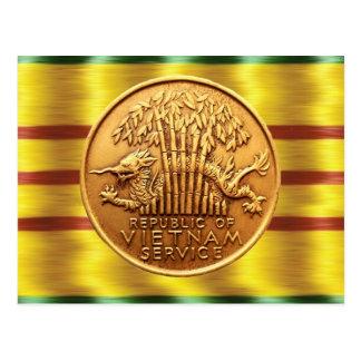 Carte postale de médaille de service du Vietnam
