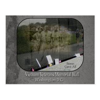 Carte postale de mémorial de vétérans du Vietnam