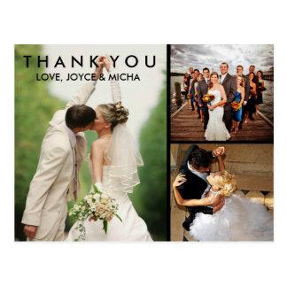 Carte postale de Merci de collage de photo de