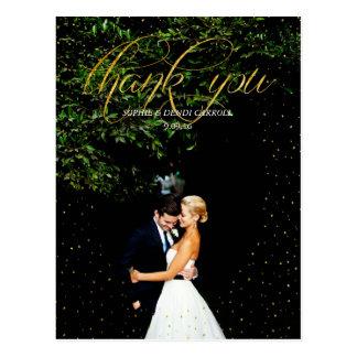 Carte postale de Merci de mariage de confettis